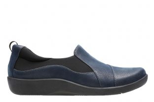 Clarks Sillian Paz Navy Womens Shoes